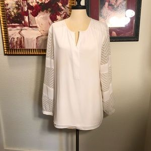 New without tag's ecru BoHo fall blouse